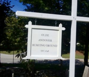olde andover burying ground sign