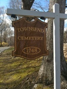 townsend cemetery sign