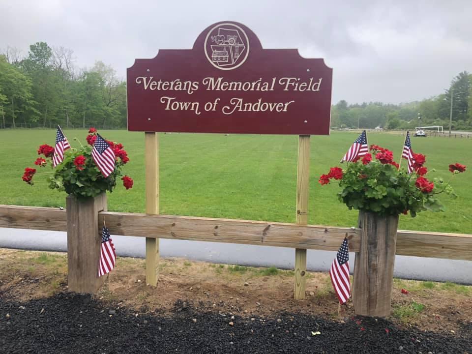 Veterans Memorial Field Sign